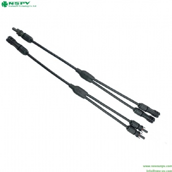 Solar cable assembly 2in1